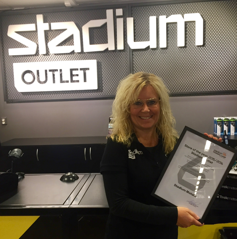 Stadium Outlet Motala Store of the Year 2015/2016